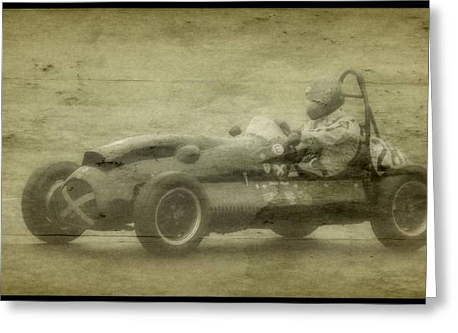 Single Seater Greeting Cards - Maserati 250F Greeting Card by John Colley