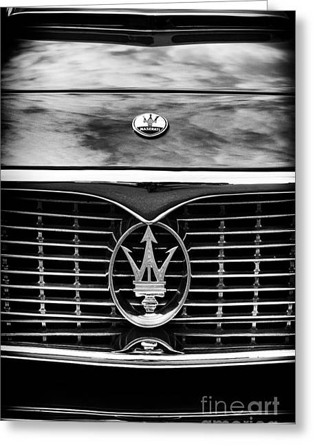Maserati Greeting Cards - Maserati 3500 GT Monochrome  Greeting Card by Tim Gainey
