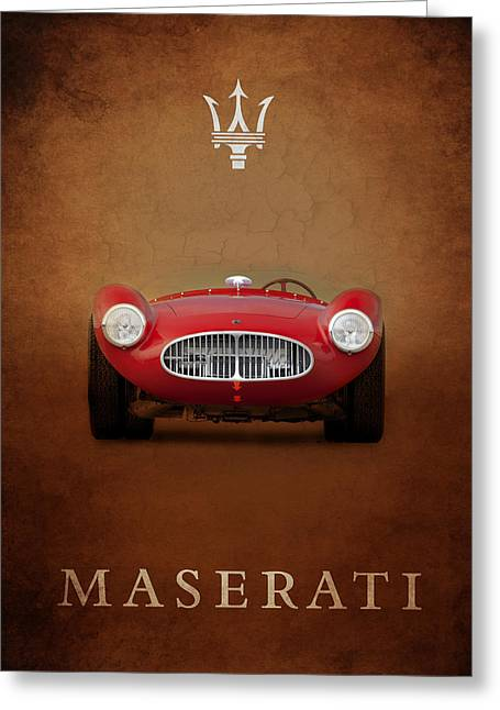 Maserati Greeting Cards - Maserati A6 GCS Greeting Card by Mark Rogan