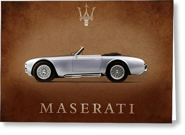 Maserati Greeting Cards - Maserati A6 Spyder Greeting Card by Mark Rogan
