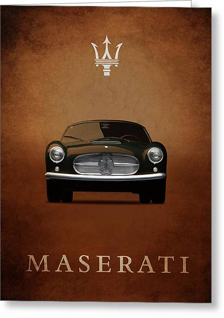 Maserati Greeting Cards - Maserati A6G Spyder Greeting Card by Mark Rogan