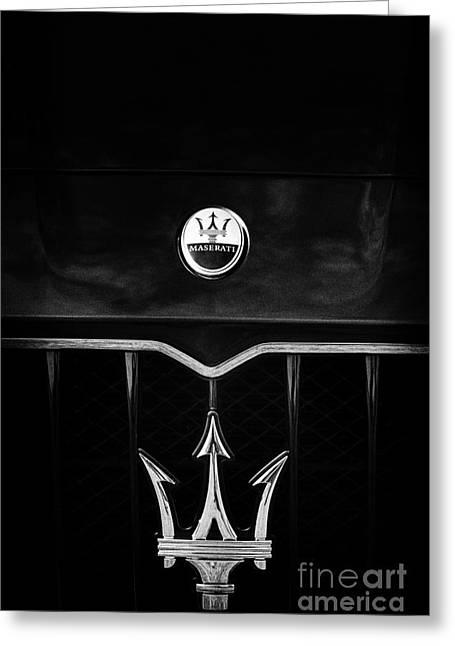 Maserati Quattroporte Monochrome Greeting Card by Tim Gainey