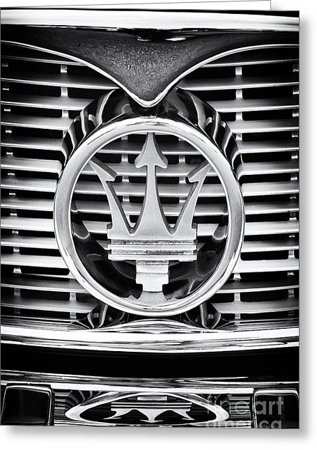 Front End Greeting Cards - Maserati  Greeting Card by Tim Gainey