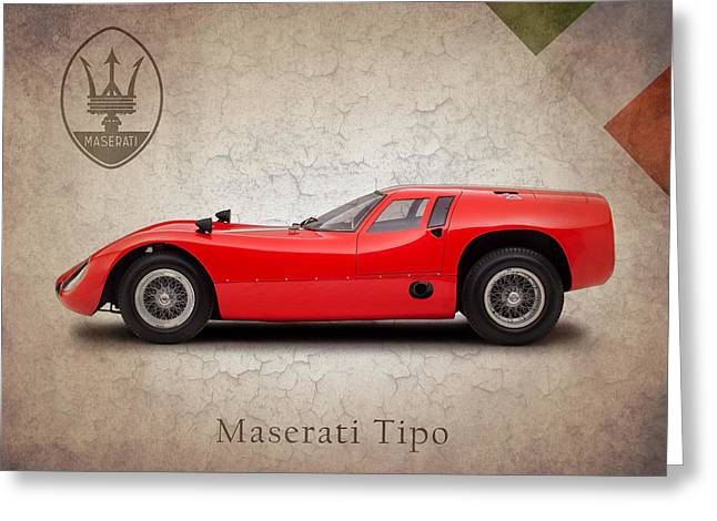 Maserati Greeting Cards - Maserati Tipo 1964 Greeting Card by Mark Rogan