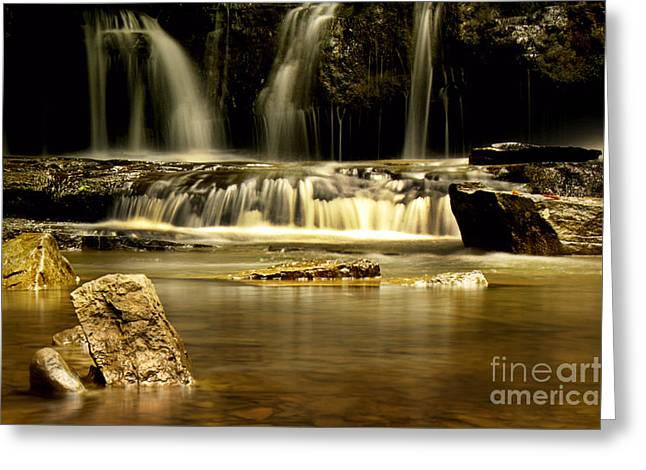 West Fork Greeting Cards - Mash Fork Falls Greeting Card by Melissa Petrey