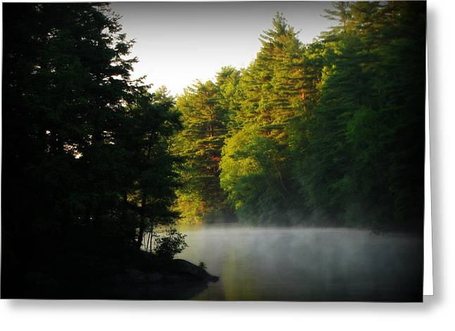 Union Connecticut Greeting Cards - Mashapaug Pond Greeting Card by Rachael McGrath