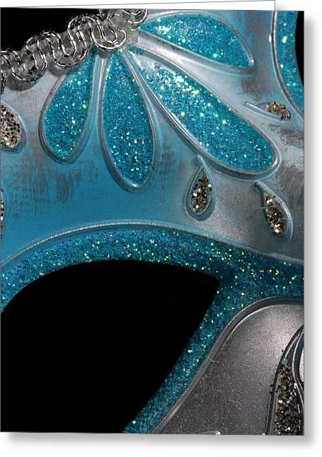 Sequins Greeting Cards - Mask 1 Greeting Card by Joe Kozlowski