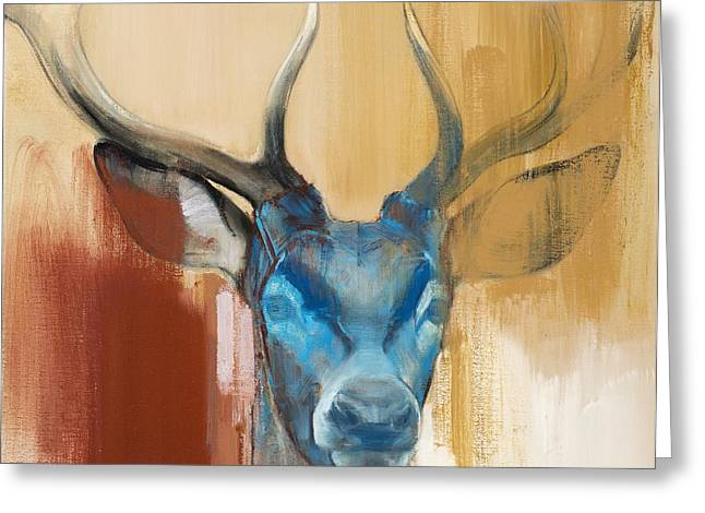 Red Deer Greeting Cards - Mask Greeting Card by Mark Adlington