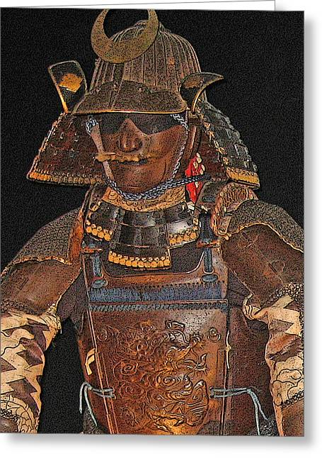 Oda Greeting Cards - Mask Samurai. Greeting Card by Andy Za