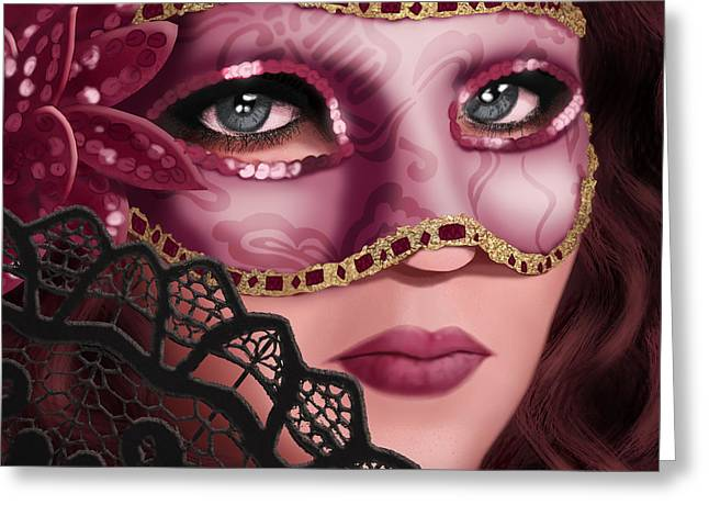 Disguise Greeting Cards - Masked II Greeting Card by April Moen