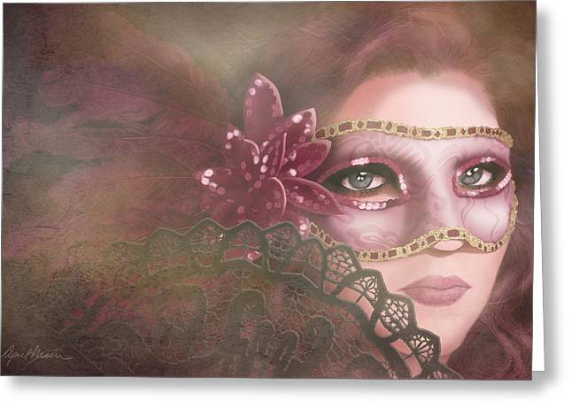 Disguise Greeting Cards - Masked III Greeting Card by April Moen