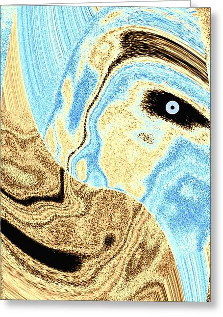 Intrigue Greeting Cards - Masked- Man Abstract Greeting Card by Will Borden