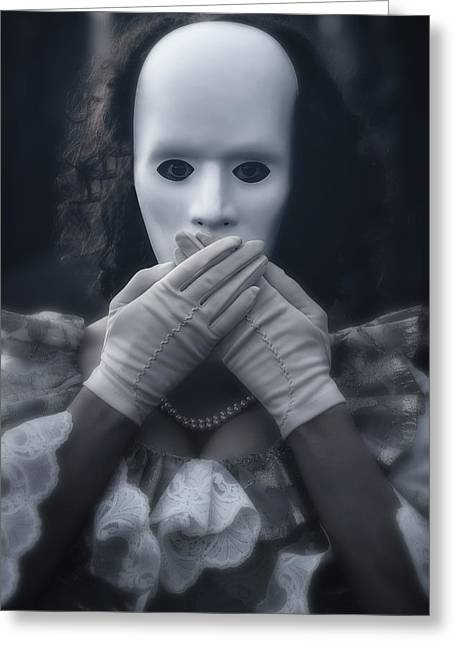 Mystic Photographs Greeting Cards - Masked Woman Greeting Card by Joana Kruse