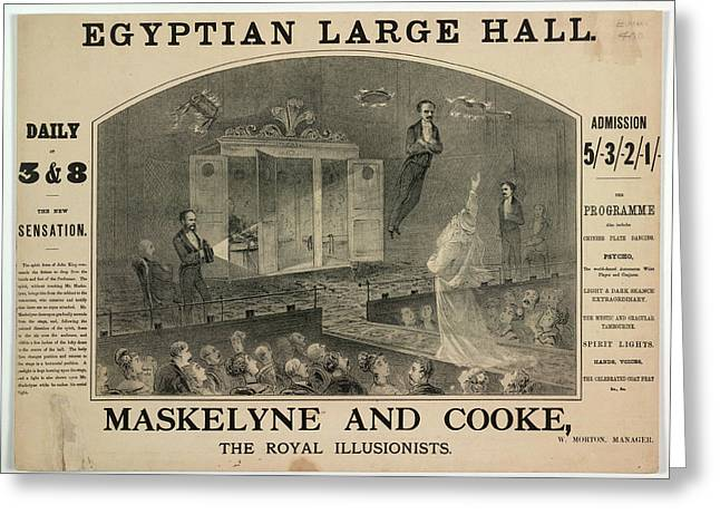 Maskelyne And Cooke Greeting Card by British Library