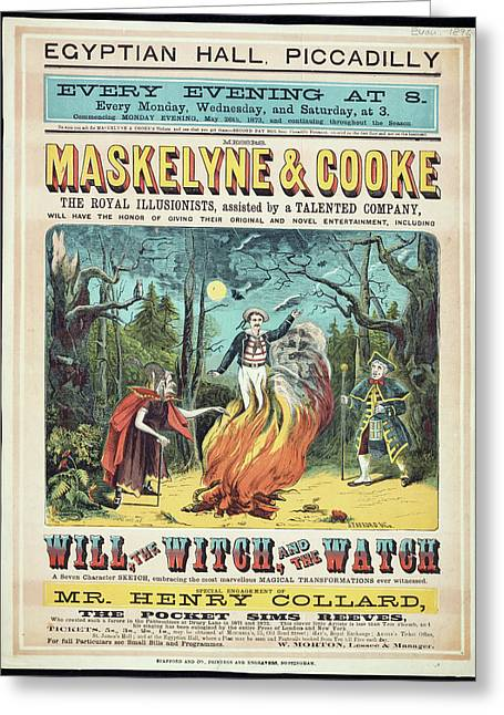 Maskelyne And Cooke's Entertainment Greeting Card by British Library