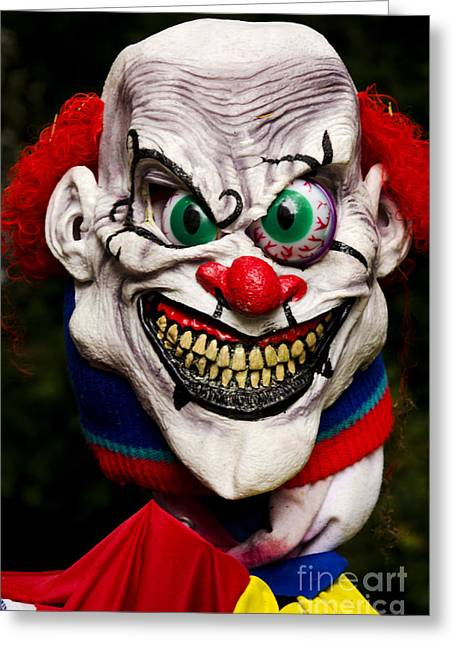 Horrible Greeting Cards - Masks Fright Night 1 Greeting Card by Bob Christopher
