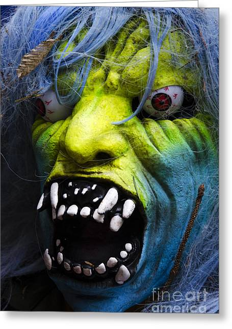 Horrible Greeting Cards - Masks Fright Night 2 Greeting Card by Bob Christopher