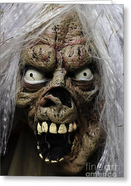 Horrible Greeting Cards - Masks Fright Night 3 Greeting Card by Bob Christopher