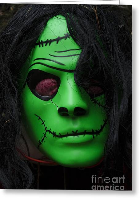 Horrible Greeting Cards - Masks Fright Night 4 Greeting Card by Bob Christopher