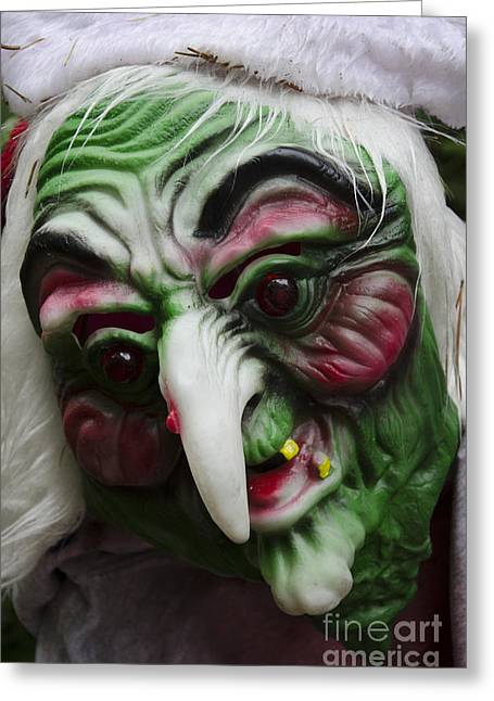 Horrible Greeting Cards - Masks Fright Night 5 Greeting Card by Bob Christopher