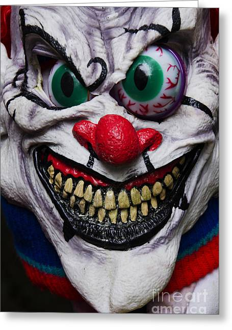 Horrible Greeting Cards - Masks Fright Night 6 Greeting Card by Bob Christopher