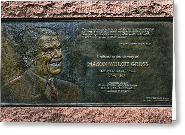 Ru Greeting Cards - Mason Welch Gross Greeting Card by Allen Beatty