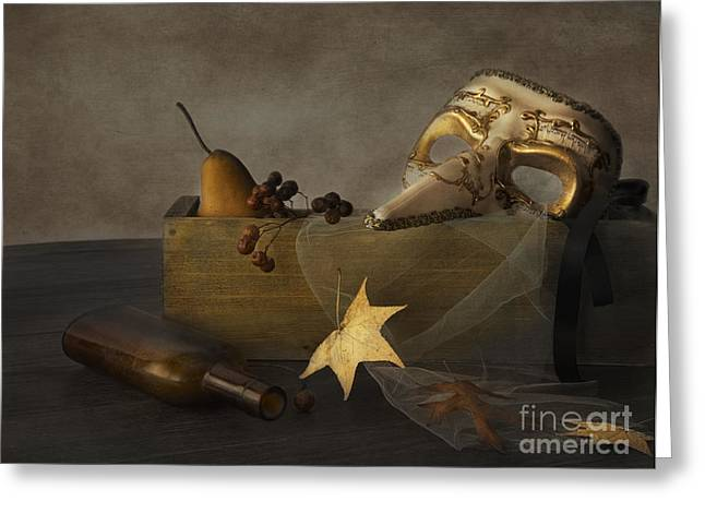 Glass Bottle Greeting Cards - Masquerade Greeting Card by Elena Nosyreva