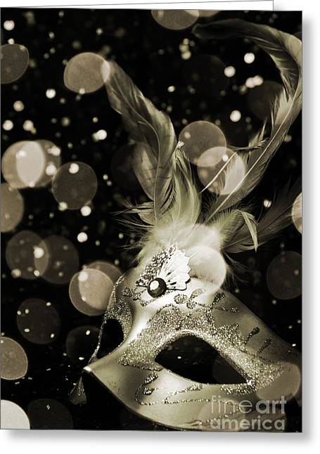 Decadence Greeting Cards - Masquerade Greeting Card by Jelena Jovanovic