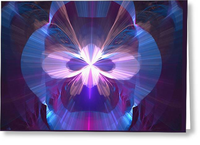 Manley Greeting Cards - Masquerade Mask - A Fractal Design Greeting Card by Gina Lee Manley
