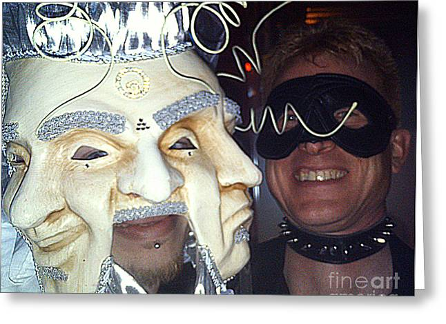 Masquerade Masked Frivolity Greeting Card by Feile Case