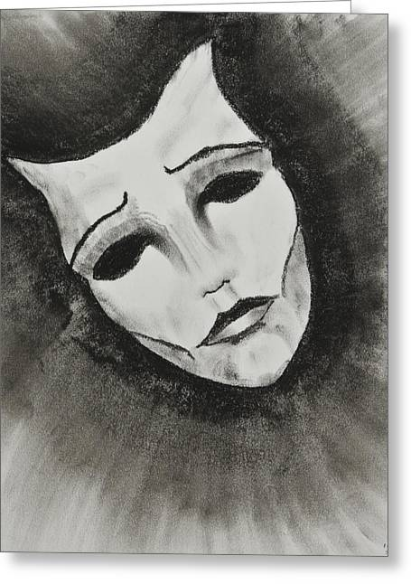Facades Pastels Greeting Cards - Masquerade Greeting Card by Sean Mitchell