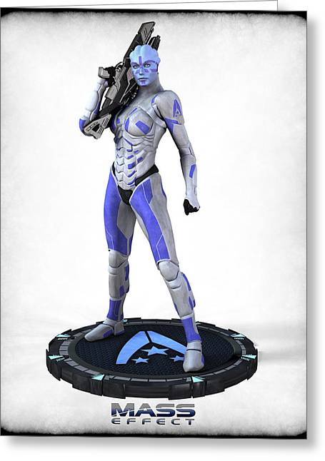 Frederico Borges Greeting Cards - Mass Effect - Asari Alliance Soldier Greeting Card by Frederico Borges