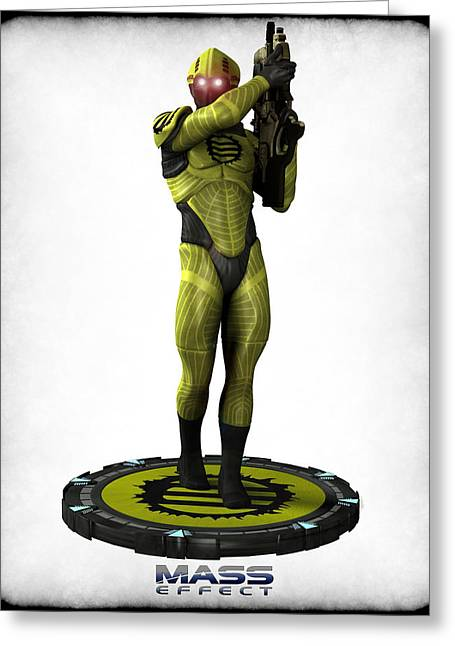 Frederico Borges Greeting Cards - Mass Effect - Eclipse Soldier Greeting Card by Frederico Borges