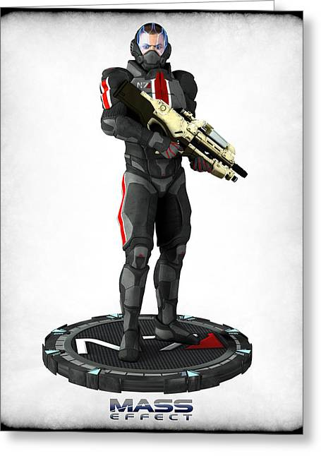 Frederico Borges Greeting Cards - Mass Effect - N7 Soldier Greeting Card by Frederico Borges