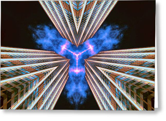 Hallucination Greeting Cards - Mass Hallucinations Projector Greeting Card by Dominic Piperata