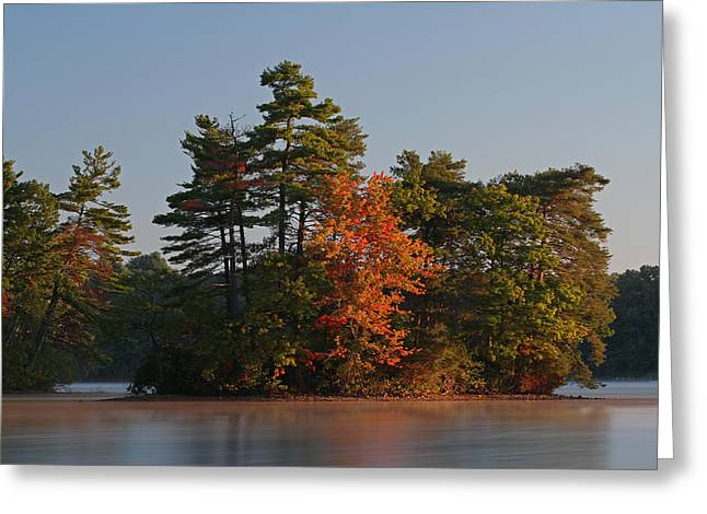 Quite Greeting Cards - Massachusetts Lake Cochituate Greeting Card by Juergen Roth