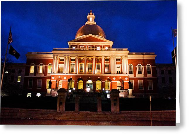 Tea Party Greeting Cards - Massachusetts State House Greeting Card by John McGraw