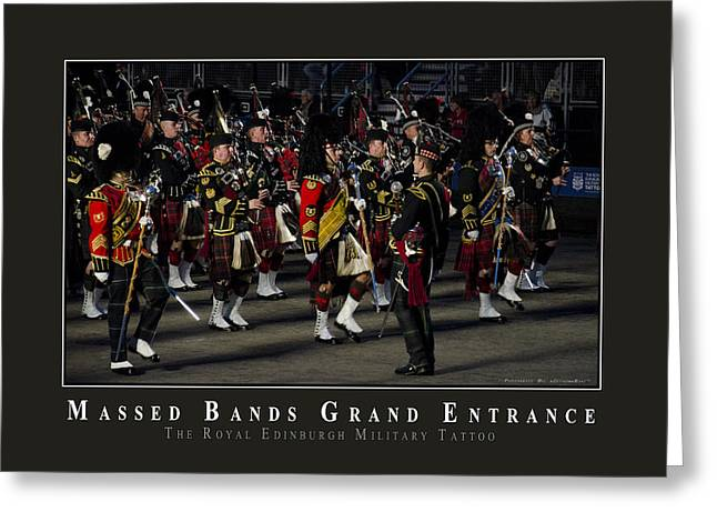 Marching Band Greeting Cards - Massed Bands Greeting Card by AGeekonaBike Photography