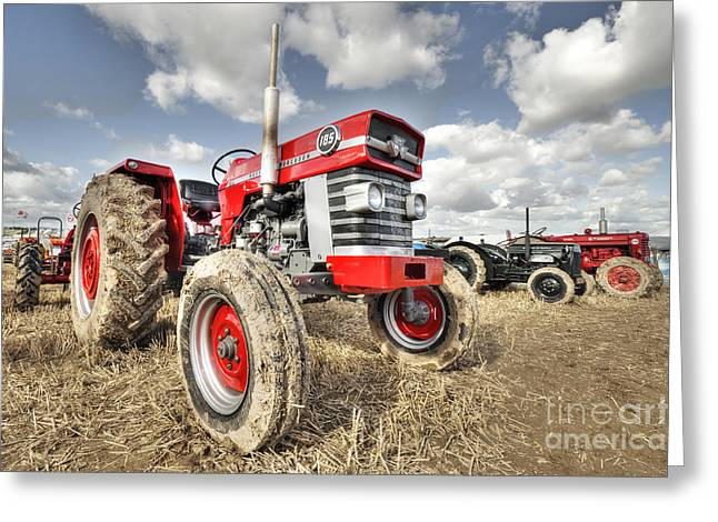 Rally Greeting Cards - Massey 185  Greeting Card by Rob Hawkins
