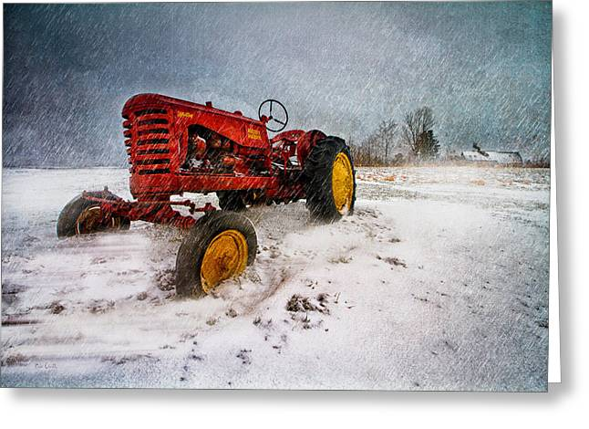 Maine Farmhouse Greeting Cards - Massey Harris Mustang Greeting Card by Bob Orsillo