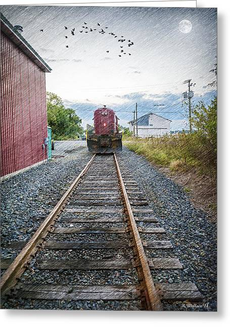 Shed Digital Art Greeting Cards - Massey Train Station Greeting Card by Brian Wallace