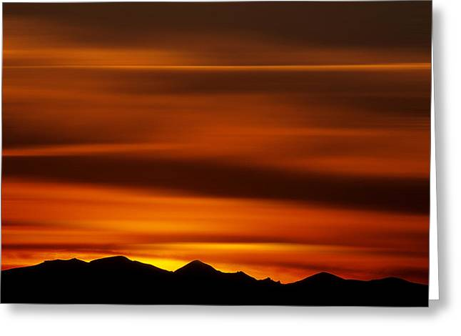 Auvergne Greeting Cards - Massif of Sancy at sunset Greeting Card by Bernard Jaubert