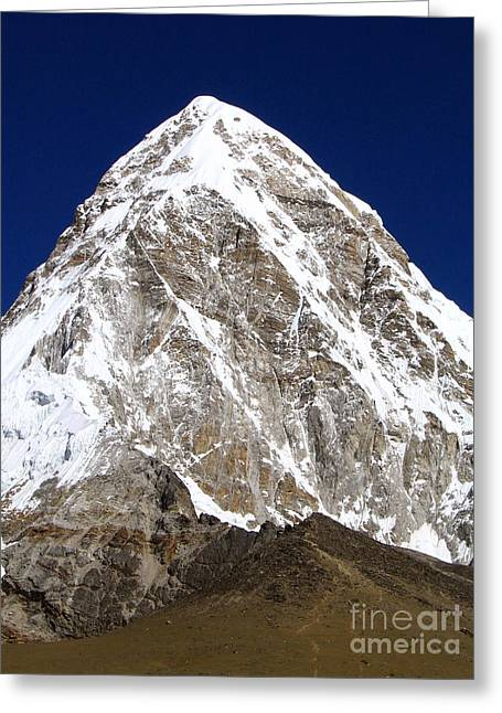 Mt Everest Base Camp Greeting Cards - Massive Pumori Greeting Card by Tim Hester