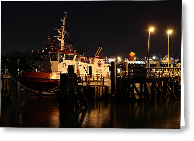 Home Improvement Photographs Greeting Cards - Massport Fire Rescue 31 Greeting Card by Juergen Roth