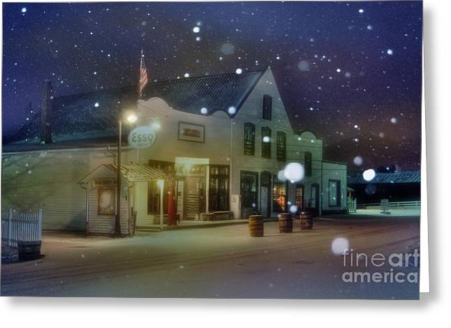 Esso Greeting Cards - Mast General Store Greeting Card by Benanne Stiens