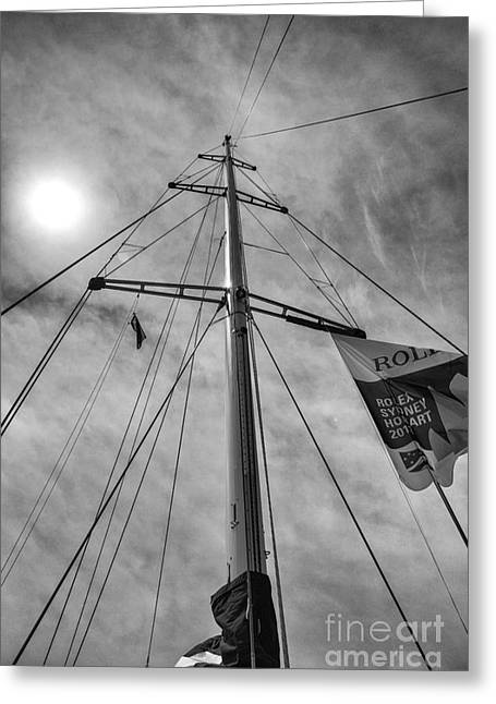 Psp Greeting Cards - Mast of yacht Greeting Card by Sheila Smart
