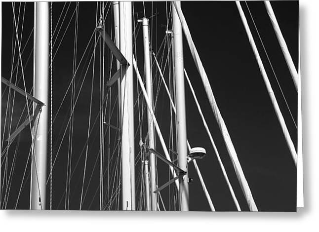 Mast Profile Greeting Card by John Rizzuto