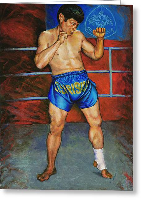 Muay Thai Greeting Cards - Master Chai Greeting Card by Mike Walrath