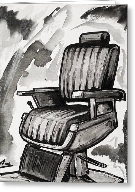 Barberchair Greeting Cards - Master Chair Greeting Card by Chuck Styles