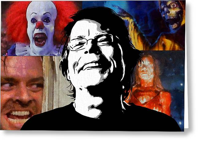 Cujo Greeting Cards - Master Of Horror Stephen King Greeting Card by Dan Sproul